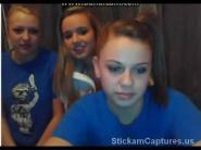 Omegle three girls stripping