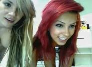 Redhead and blonde lesbians on MFC